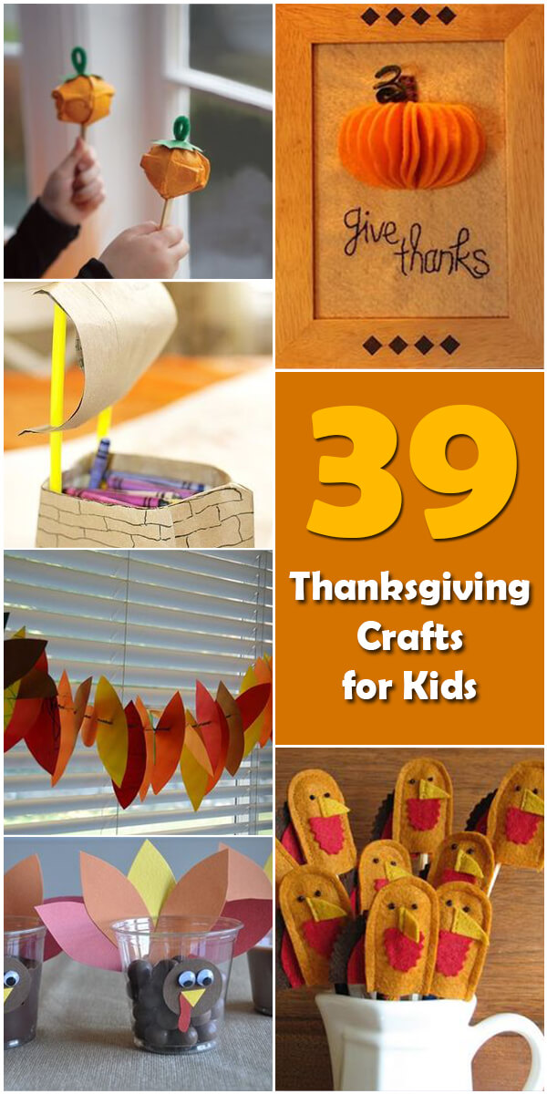 39 Fun Thanksgiving Crafts for Kids