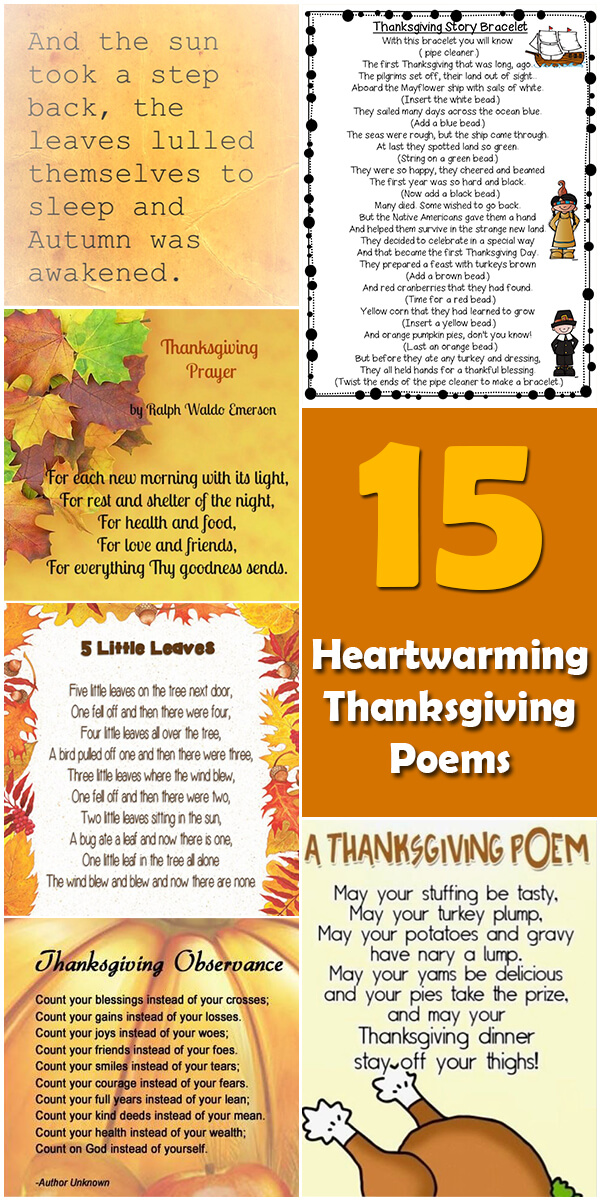 15 Heartwarming Thanksgiving Poems