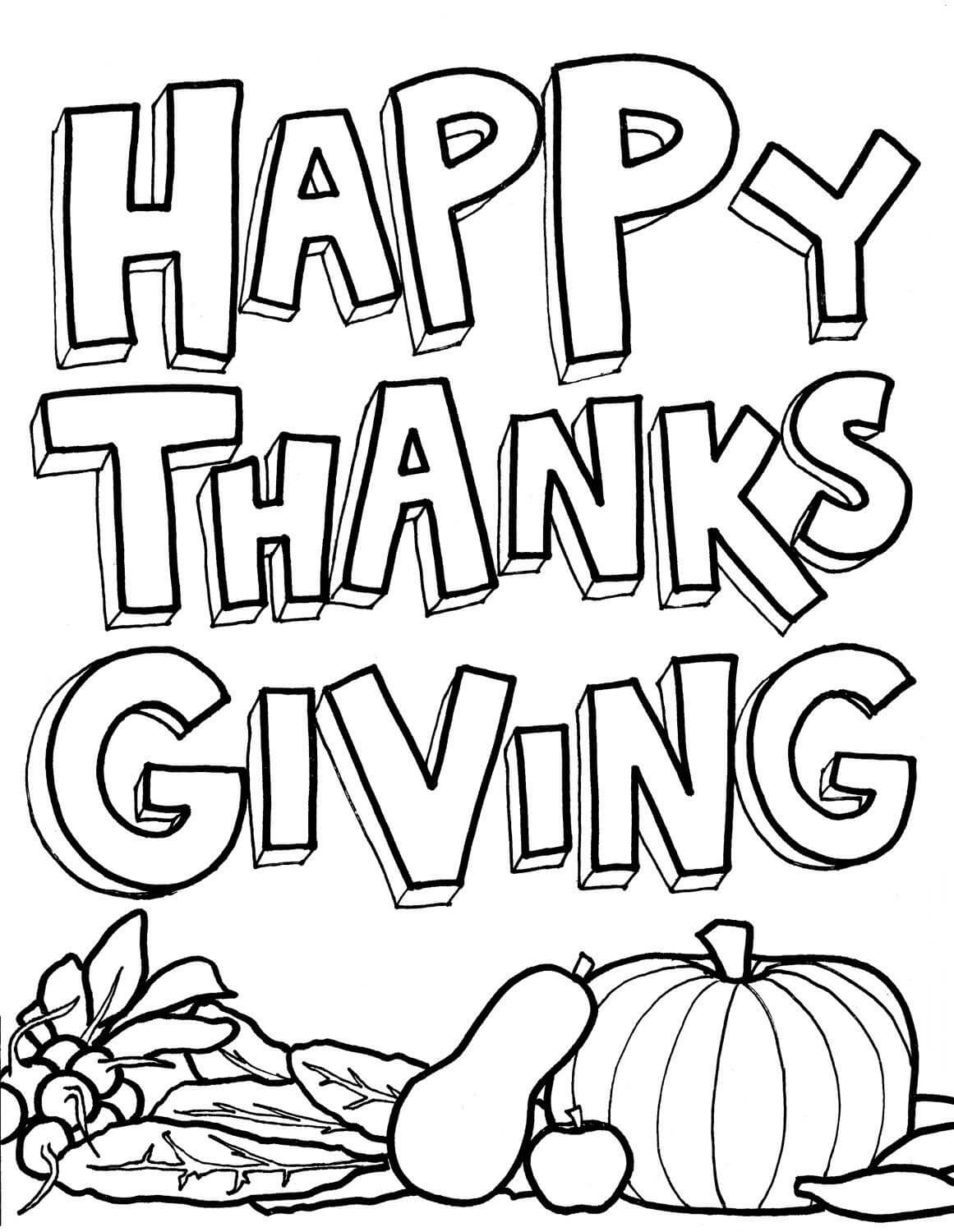 15 Printable Thanksgiving Coloring Pages - Holiday Vault