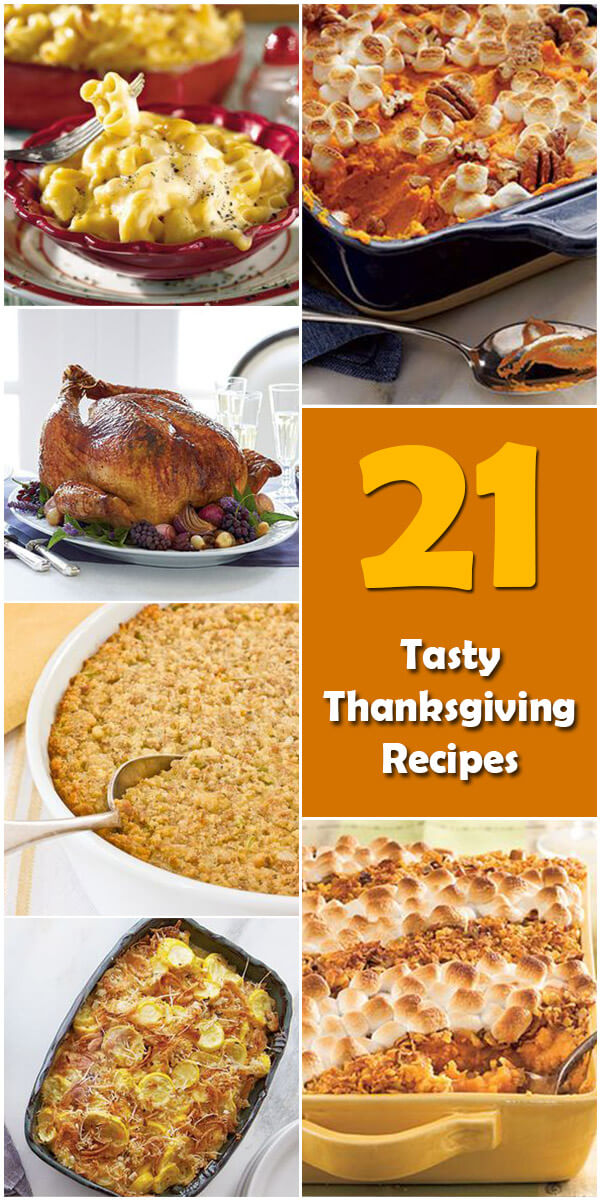 21 Tasty Thanksgiving Recipes