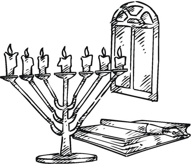 18 printable hanukkah coloring pages - Hanukkah Printable Coloring Pages