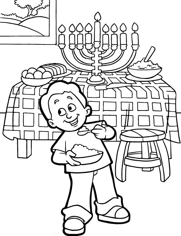 menorah coloring pages printable - photo#22