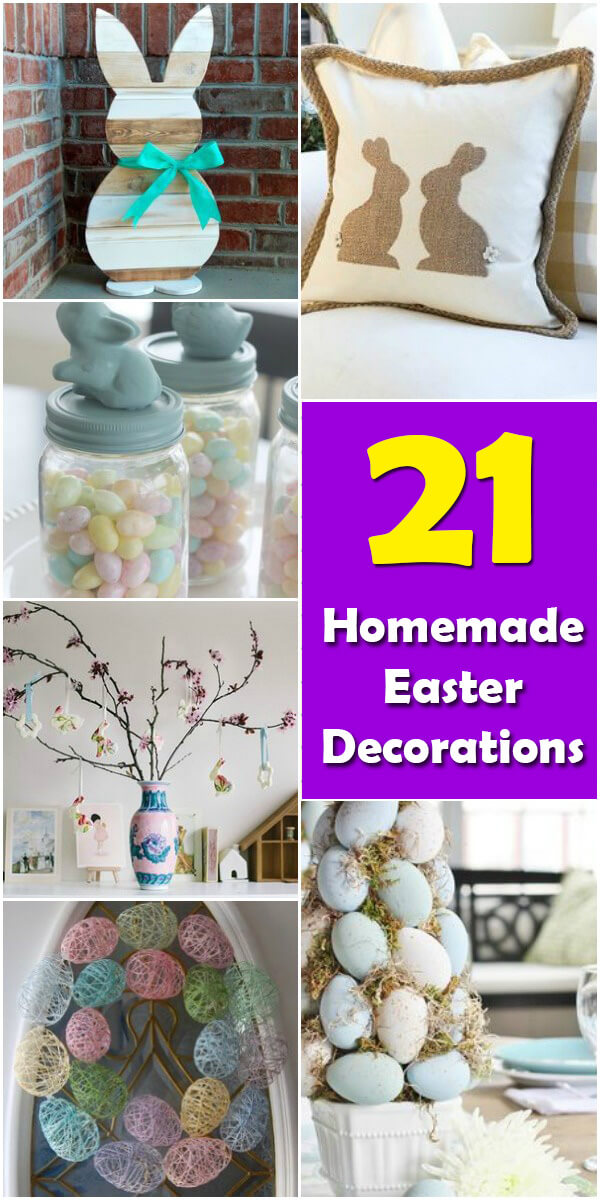 21 Homemade DIY Easter Decorations