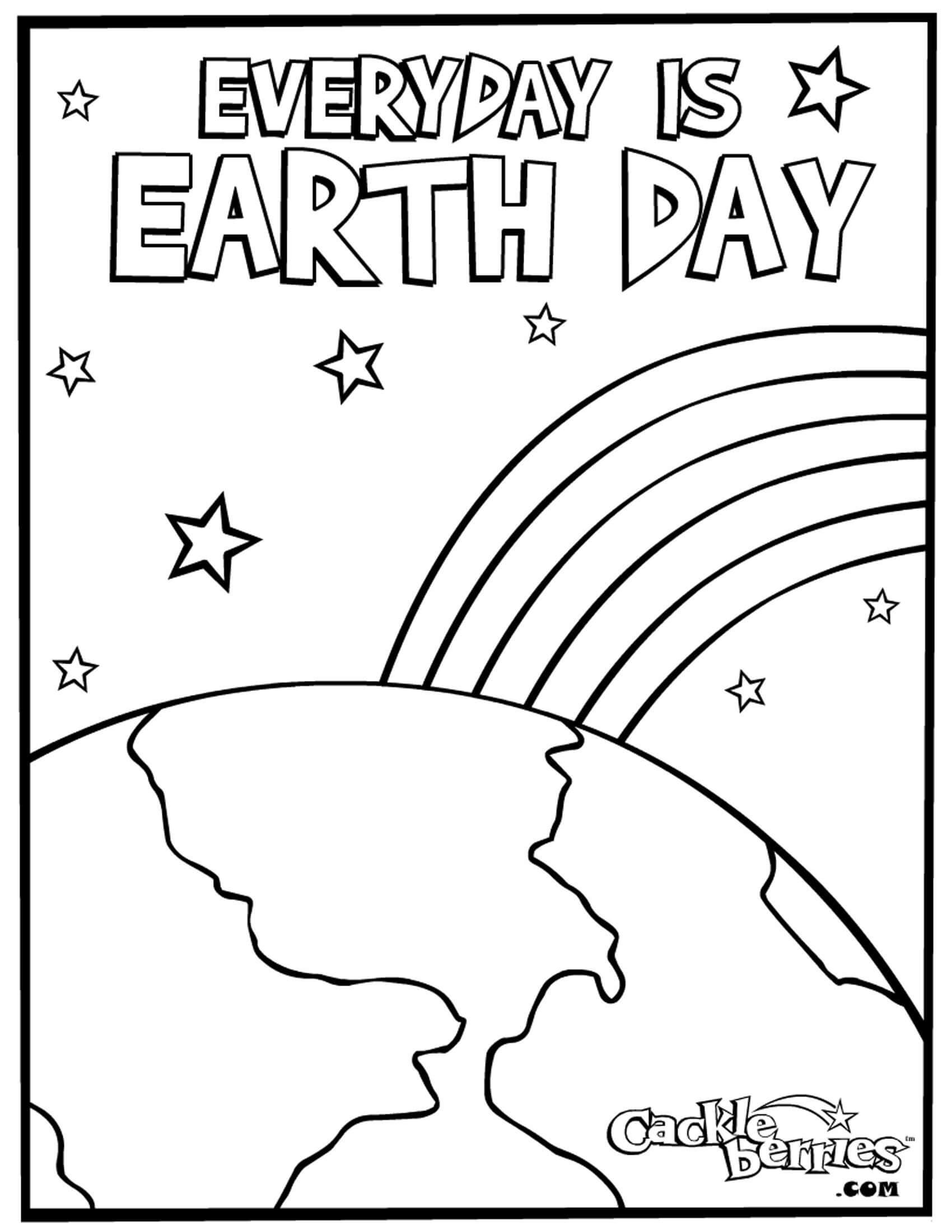 21 Printable Earth Day Coloring Pages - Holiday Vault