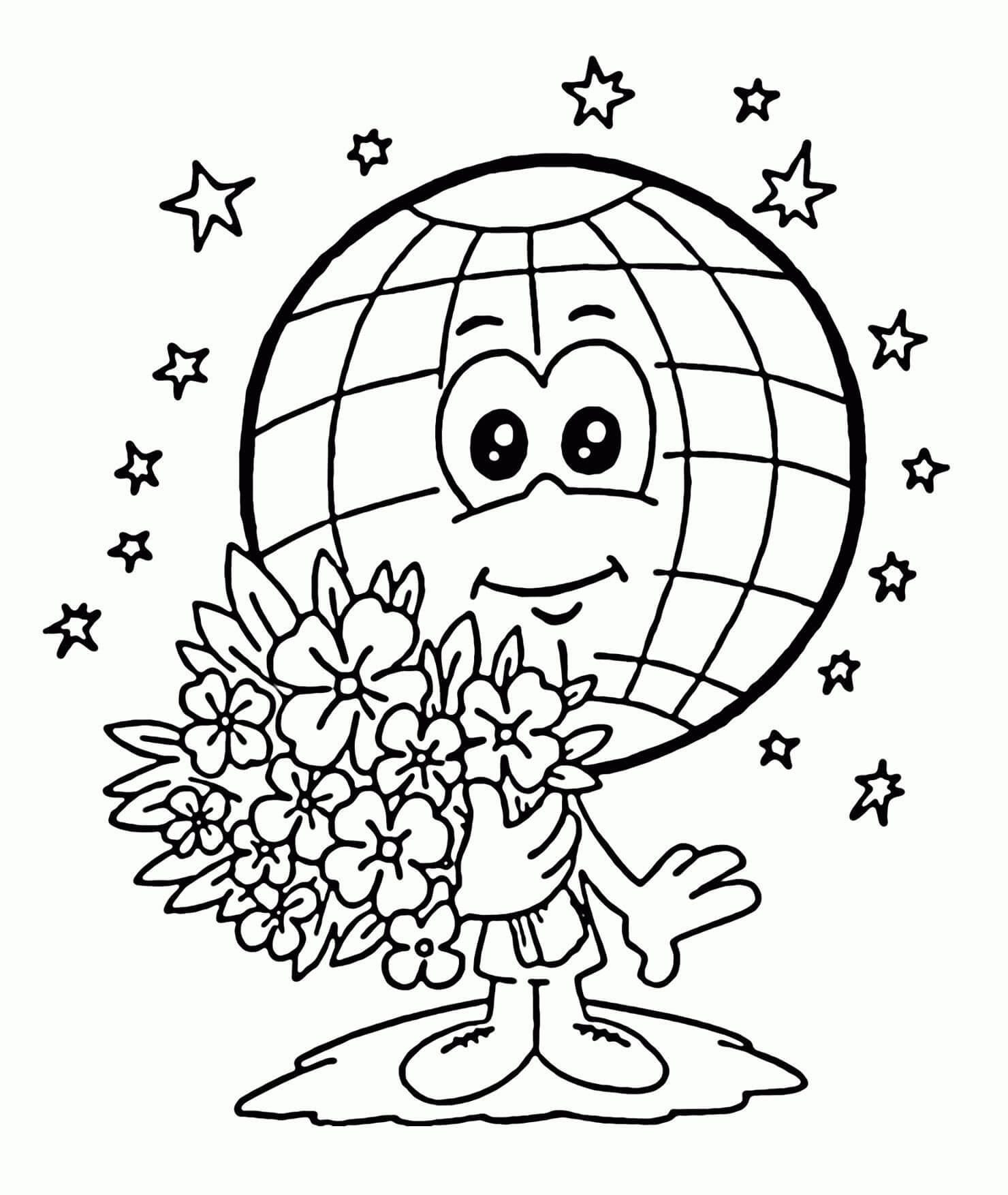 It's just a graphic of Unforgettable Coloring Page Earth