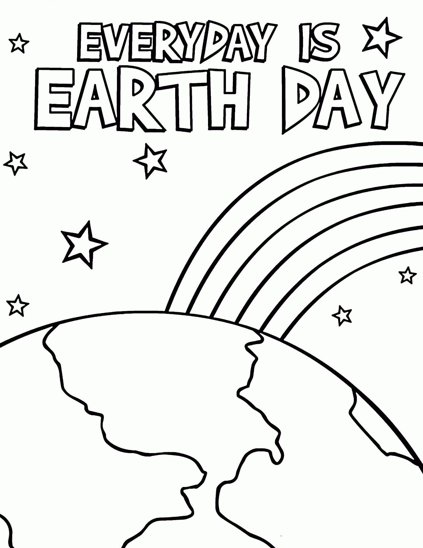 100 free printable earth day coloring pages and activities best