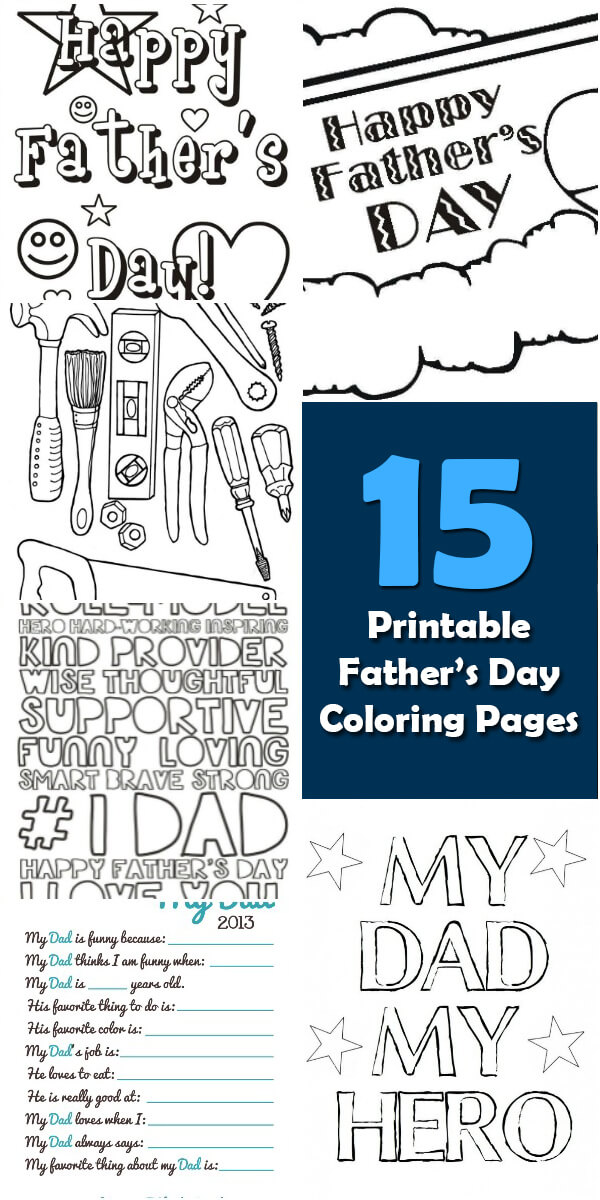 15 Printable Father's Day Coloring Pages