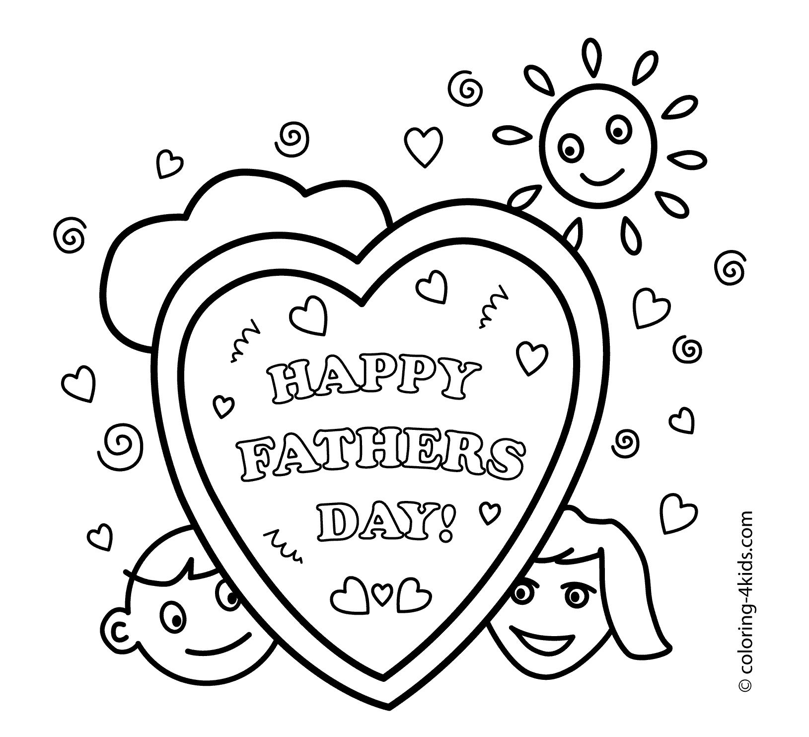15 Printable Father 39 s Day Coloring Pages Holiday Vault