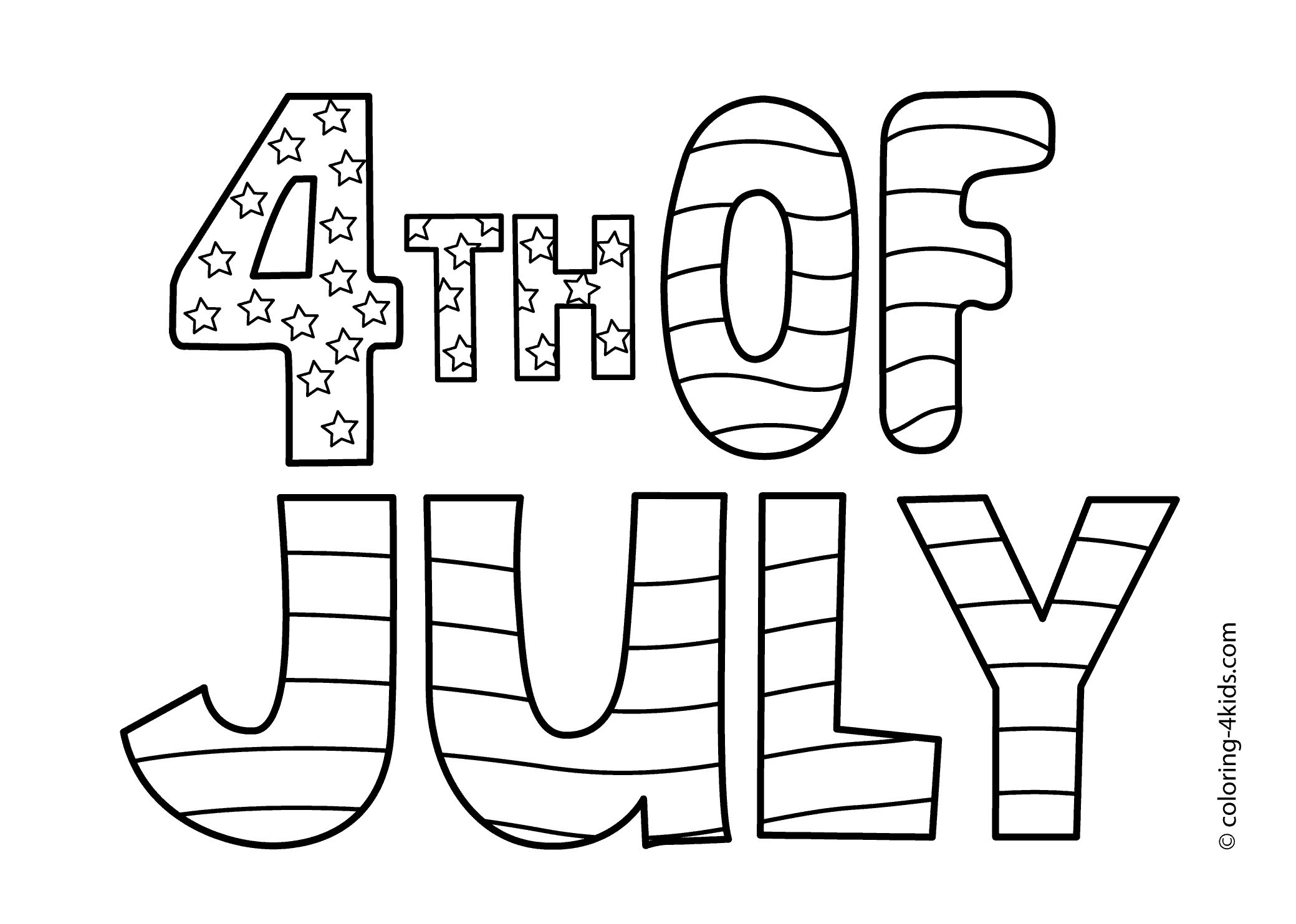 18 Printable Independence Day Coloring