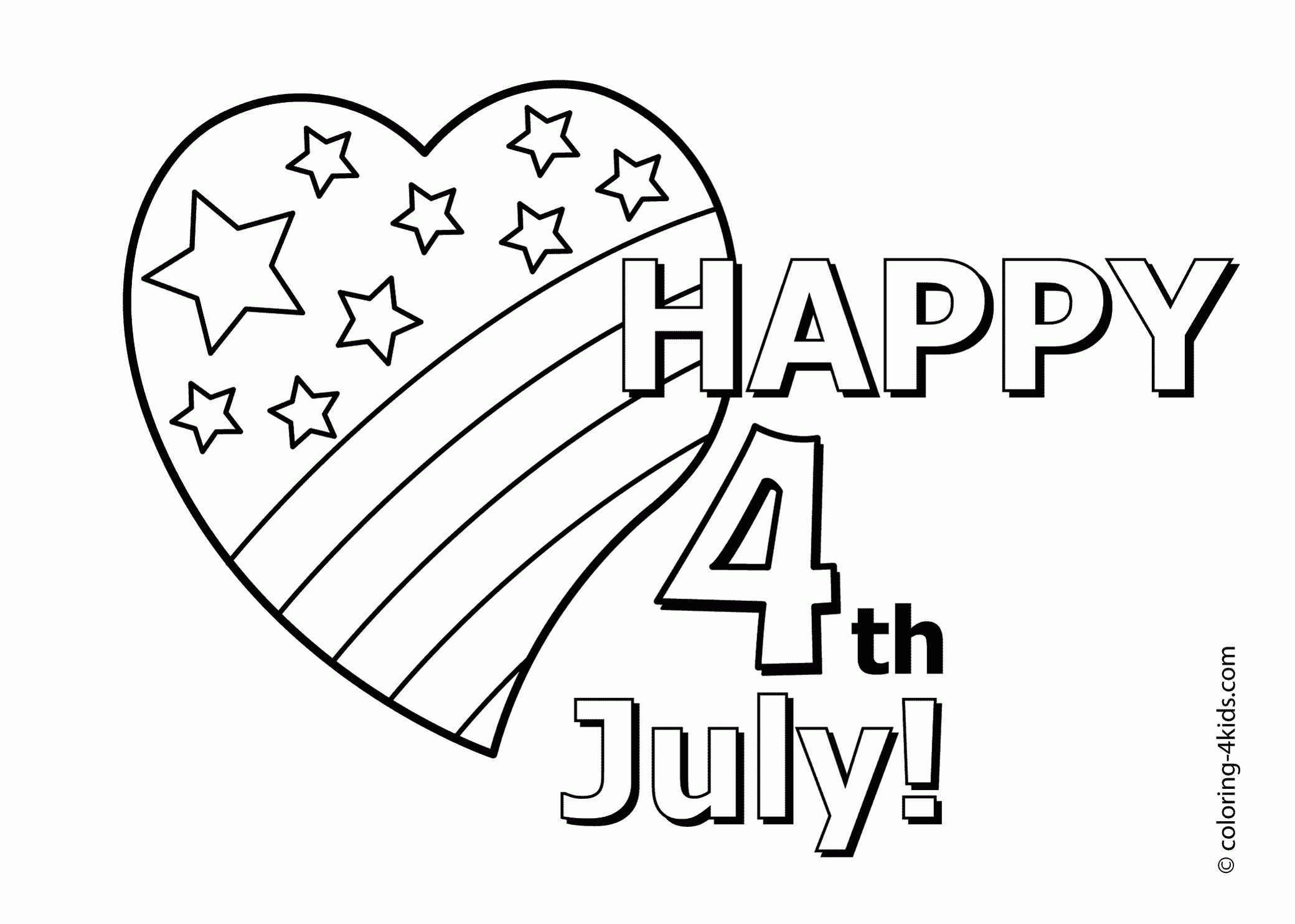 18 Printable Independence Day Coloring Pages - Holiday Vault
