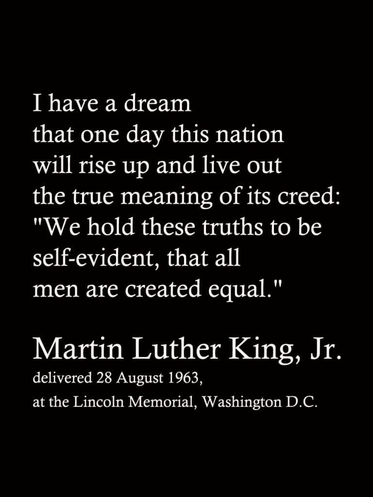An examination of martin luther king jrs i have a dream speech