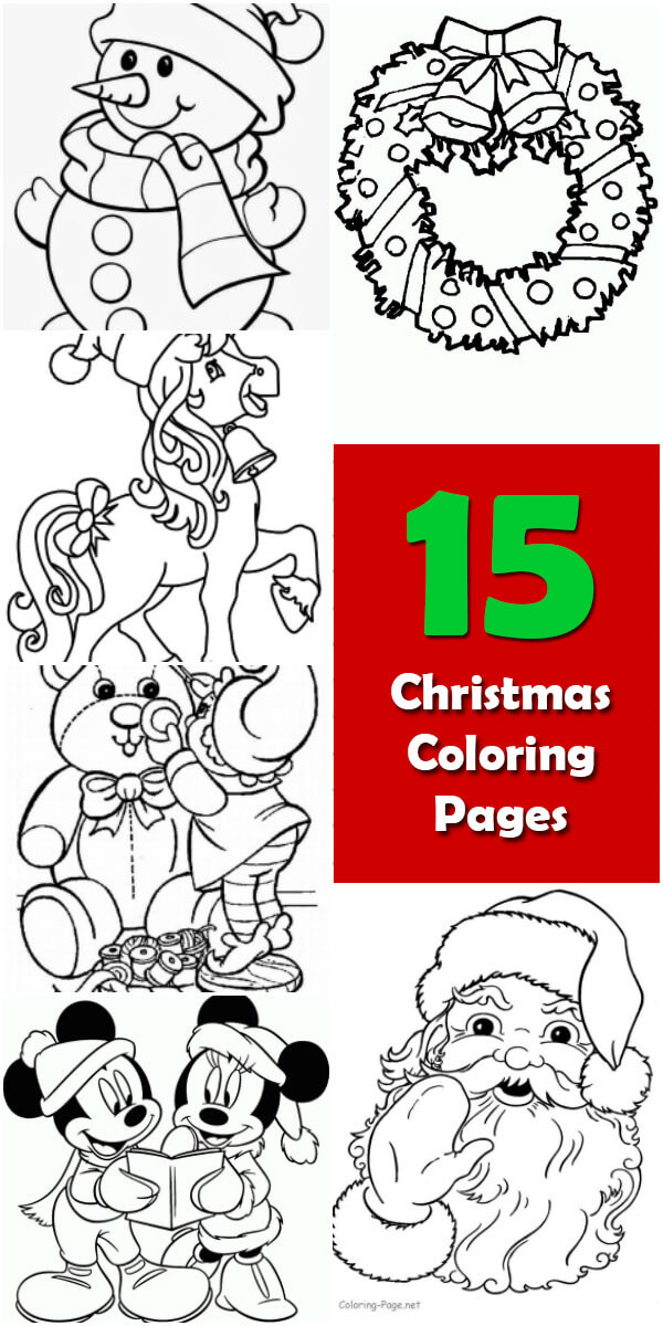 15 Printable Christmas Coloring Pages - Holiday Vault