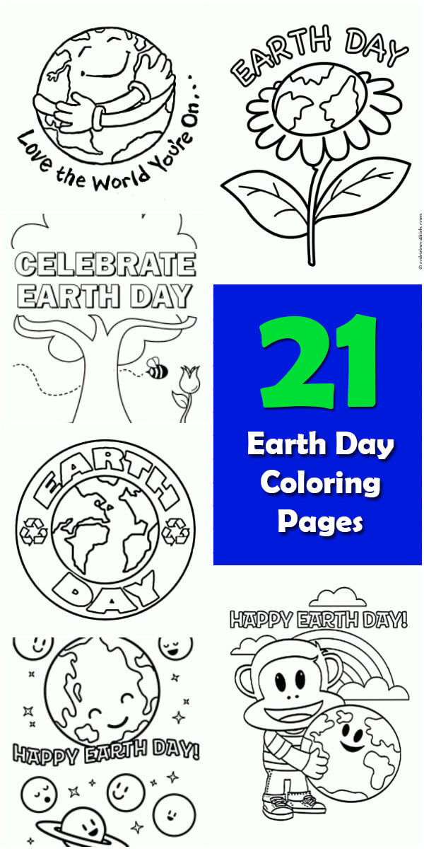 21 Printable #EarthDay Coloring Pages - Holiday Vault