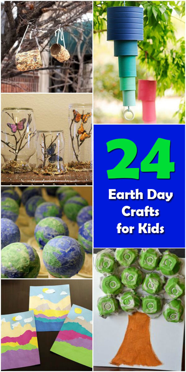 24 Fun #EarthDay Crafts for Kids - Holiday Vault