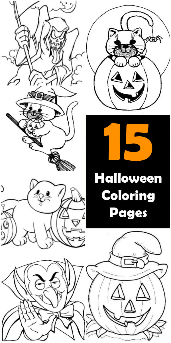 15 Printable Halloween Coloring Pages