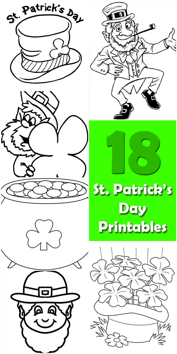 18 Printable St. Patrick's Day Coloring Pages