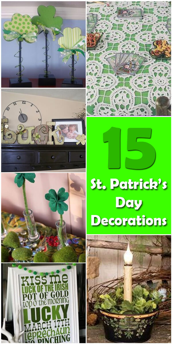 15 Homemade DIY St. Patrick's Day Decorations