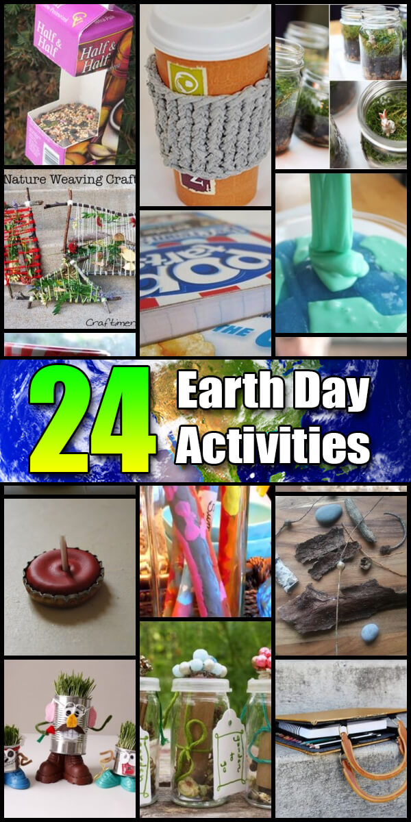 24 Fun Earth Day Activities for Kids - Holiday Vault #EarthDay #EarthDayCrafts