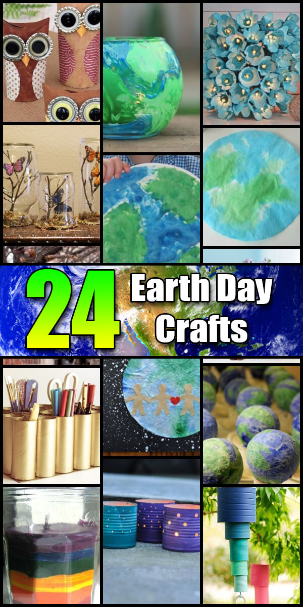 24 Fun Earth Day Crafts for Kids - Holiday Vault #EarthDay