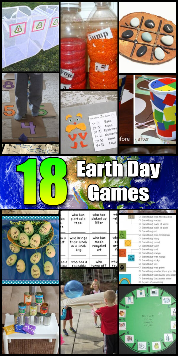 18 Super Fun Earth Day Games - Holiday Vault #EarthDay
