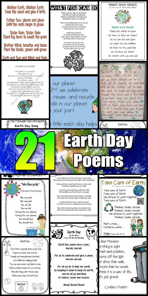 21 Inspiring Earth Day Poems - Holiday Vault #EarthDay