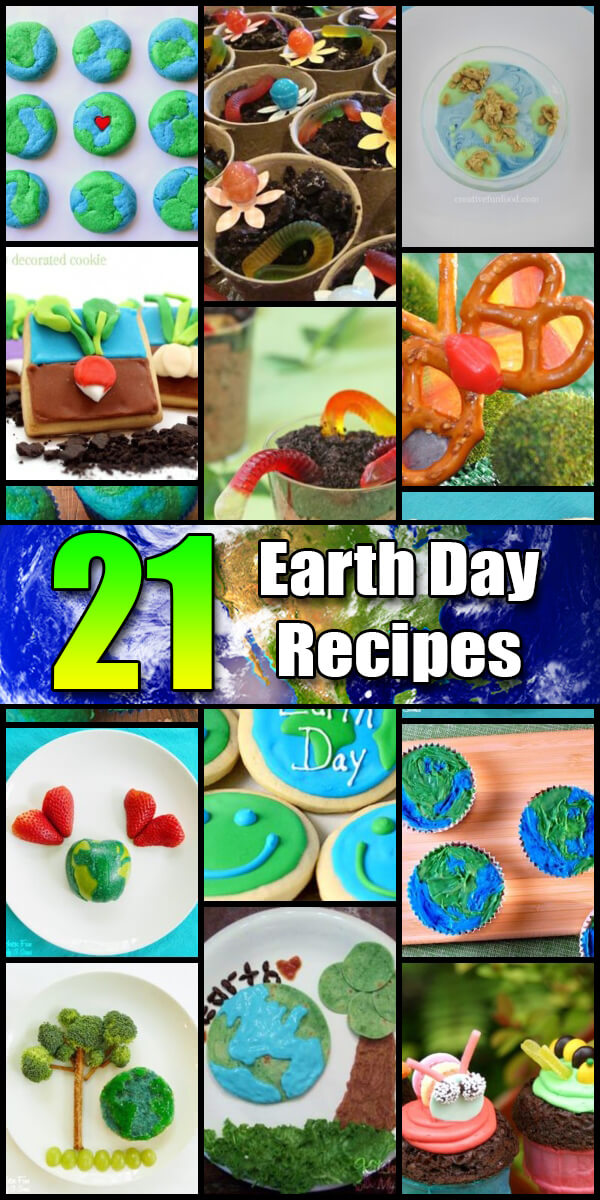 21 Yummy Earth Day Recipes - Holiday Vault #EarthDay