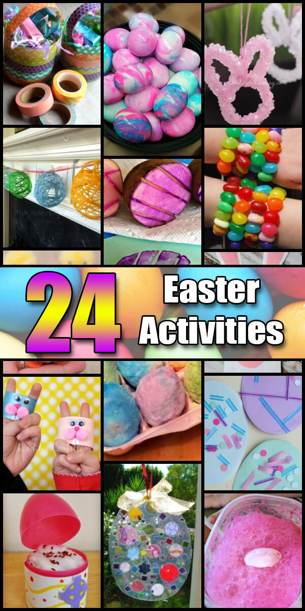 24 Fun Easter Activities for Kids - Holiday Vault #Easter