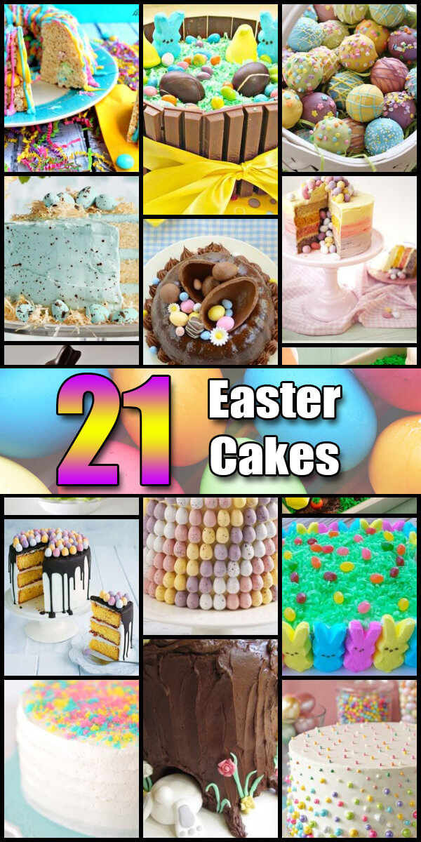 21 Nifty Easter Cake Ideas - Holiday Vault #Easter