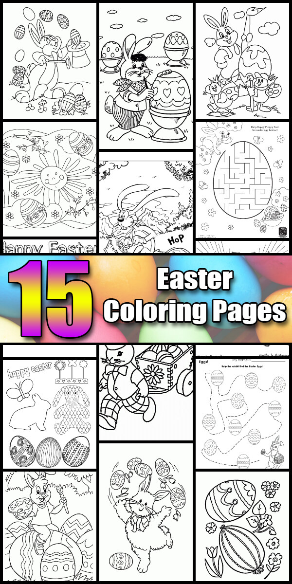 15 Printable Easter Coloring Pages - Holiday Vault #Easter
