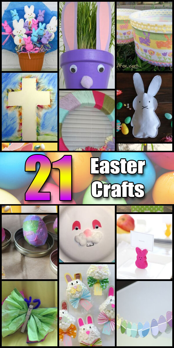 21 Fun Easter Crafts for Kids - Holiday Vault #EasterCrafts
