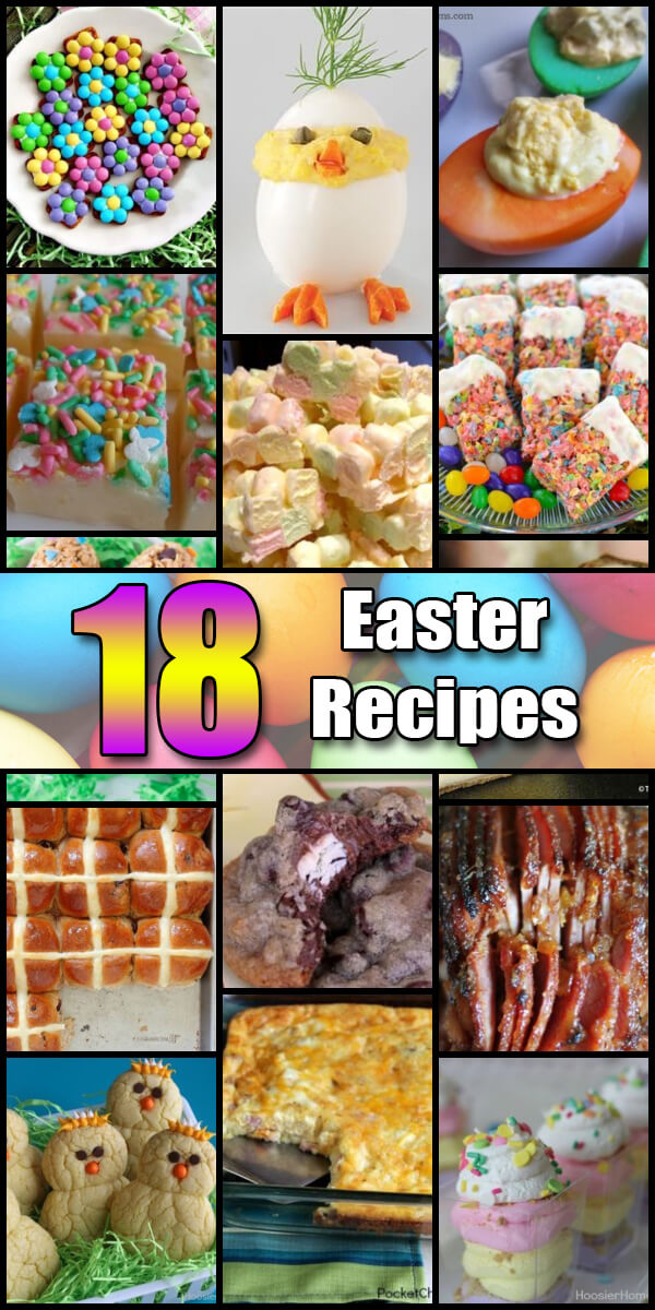 18 Yummy Easter Recipes - Holiday Vault #Easter