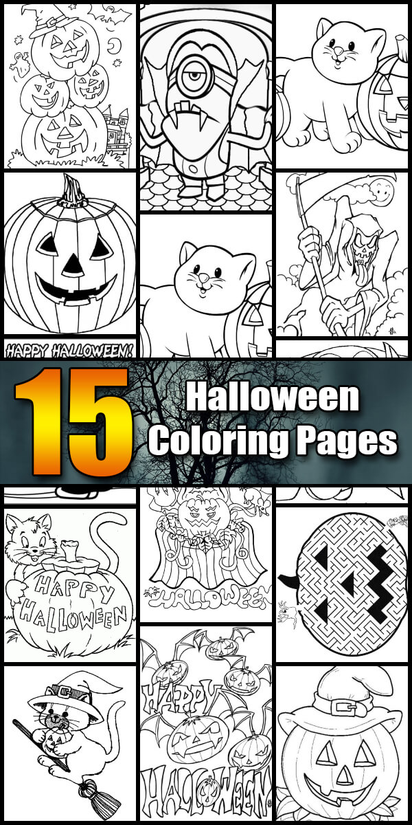 15 Printable Halloween Coloring Pages - Holiday Vault #Halloween
