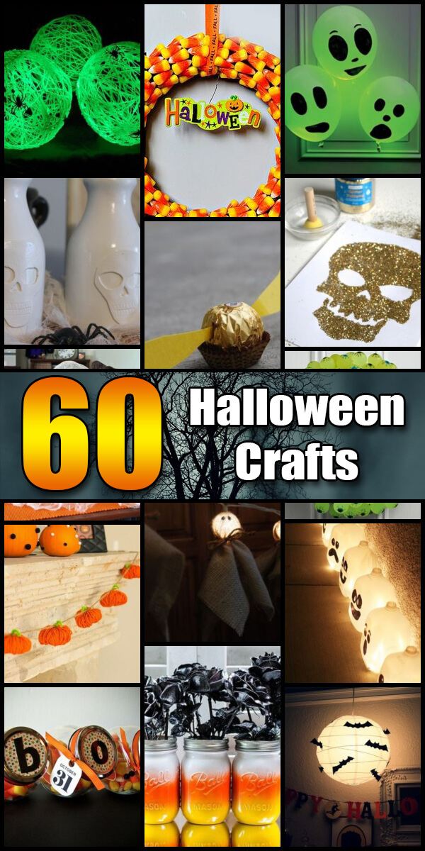 60 Halloween Craft Ideas for Kids - Holiday Vault #Halloween