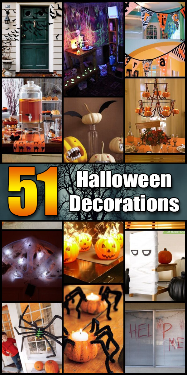 51 Spooky DIY Halloween Decorations - Holiday Vault #Halloween