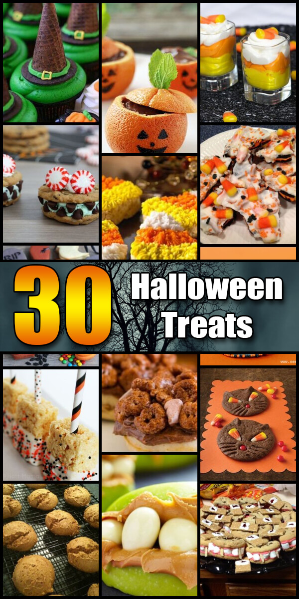 30 Dreadful (and Delicious) Halloween Treats - Holiday Vault #Halloween