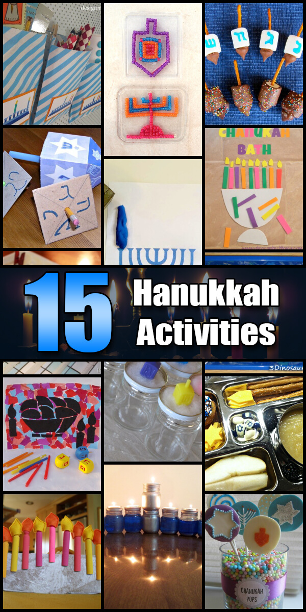 15 Fun Hanukkah Activities for Kids - Holiday Vault #Hanukkah