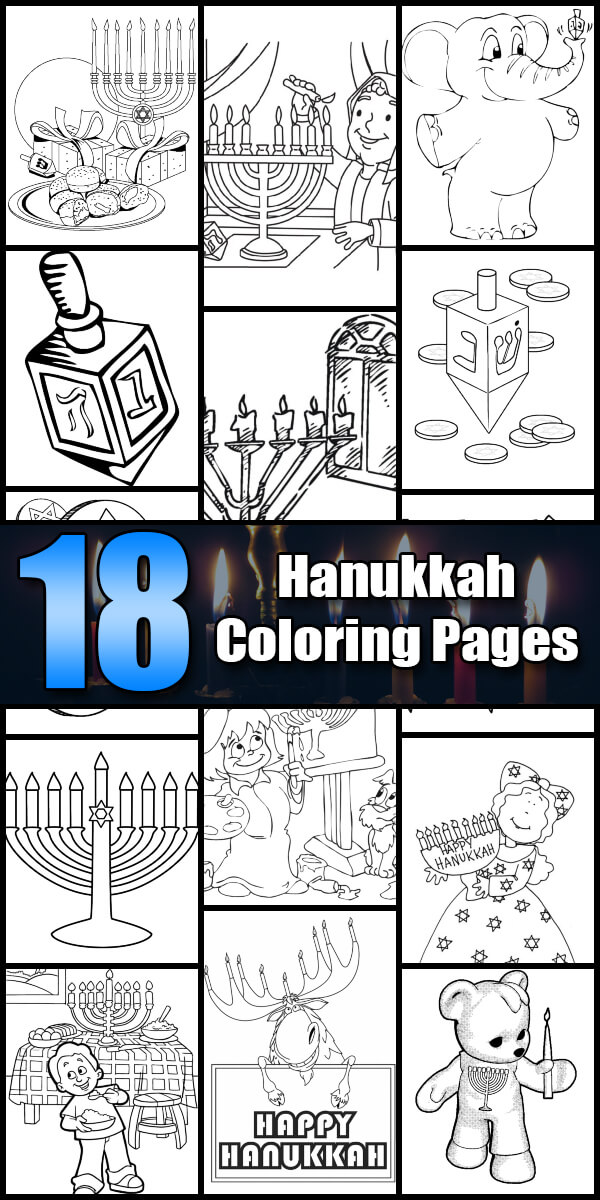 18 Printable Hanukkah Coloring Pages - Holiday Vault #Hanukkah