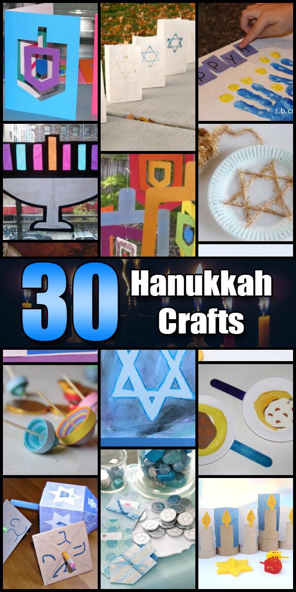 30 Fun Hanukkah Crafts for Kids - Holiday Vault #Hanukkah