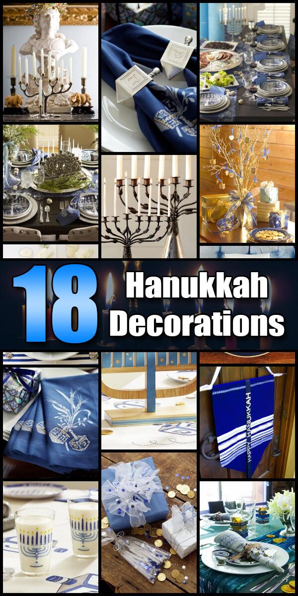 18 Festive Hanukkah Decorations - Holiday Vault #Hanukkah