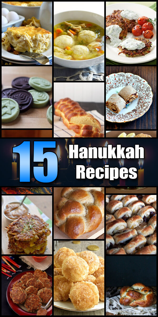 15 Tasty Hanukkah Recipes - Holiday Vault #Hanukkah