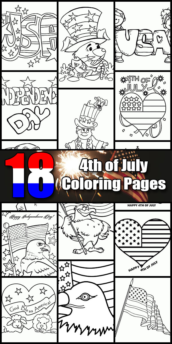 18 Printable Independence Day Coloring Pages - Holiday Vault #IndependenceDay #4thofJuly