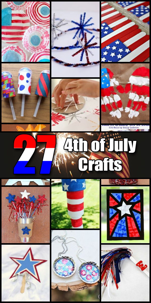 27 Patriotic Independence Day Crafts - Holiday Vault #IndependenceDay #4thofJuly