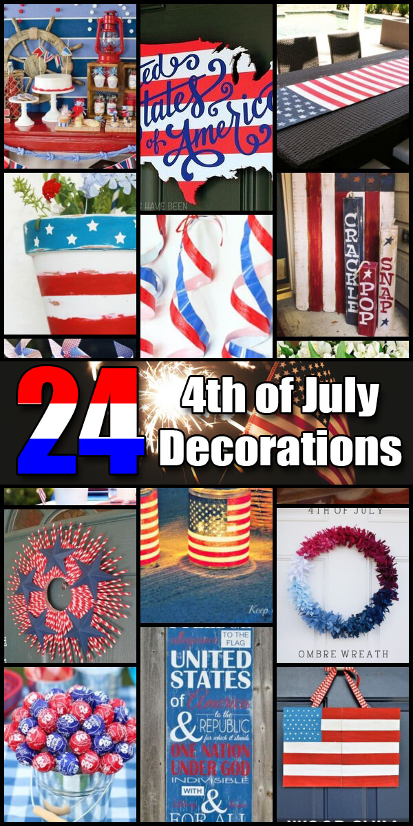 24 Star Spangled Independence Day Decorations - Holiday Vault #IndependenceDay #4thofJuly