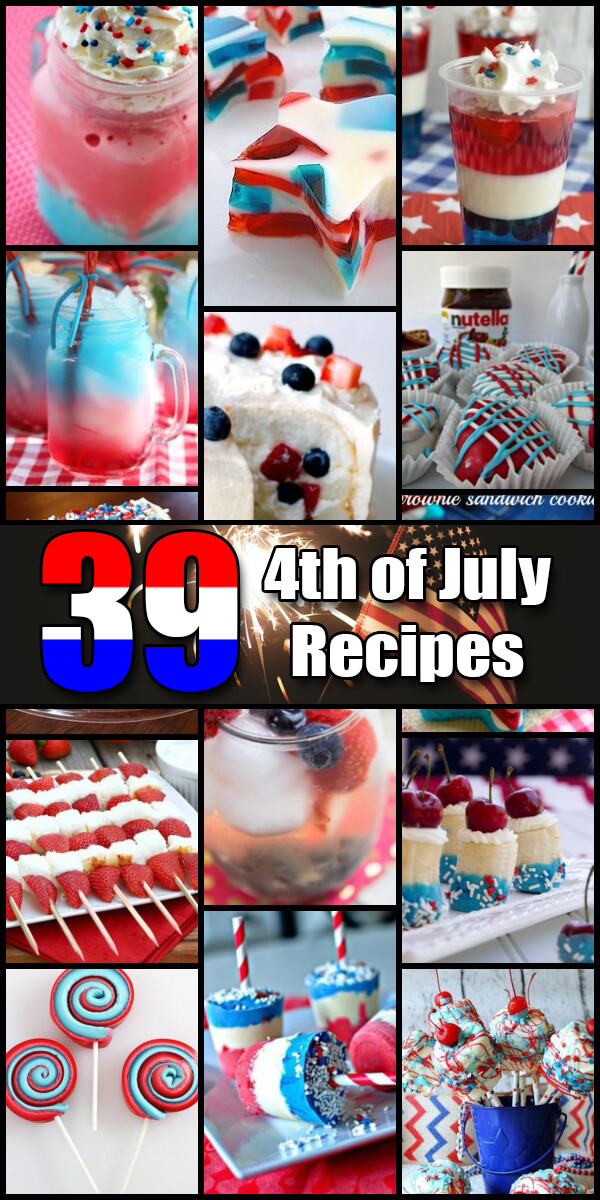 39 Patriotic Independence Day Recipes - Holiday Vault #IndependenceDay #4thofJuly