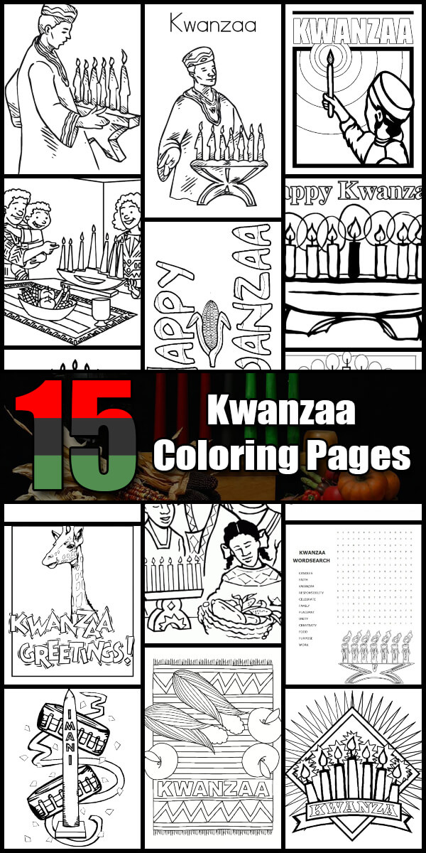 15 Printable Kwanzaa Coloring Pages - Holiday Vault #Kwanzaa