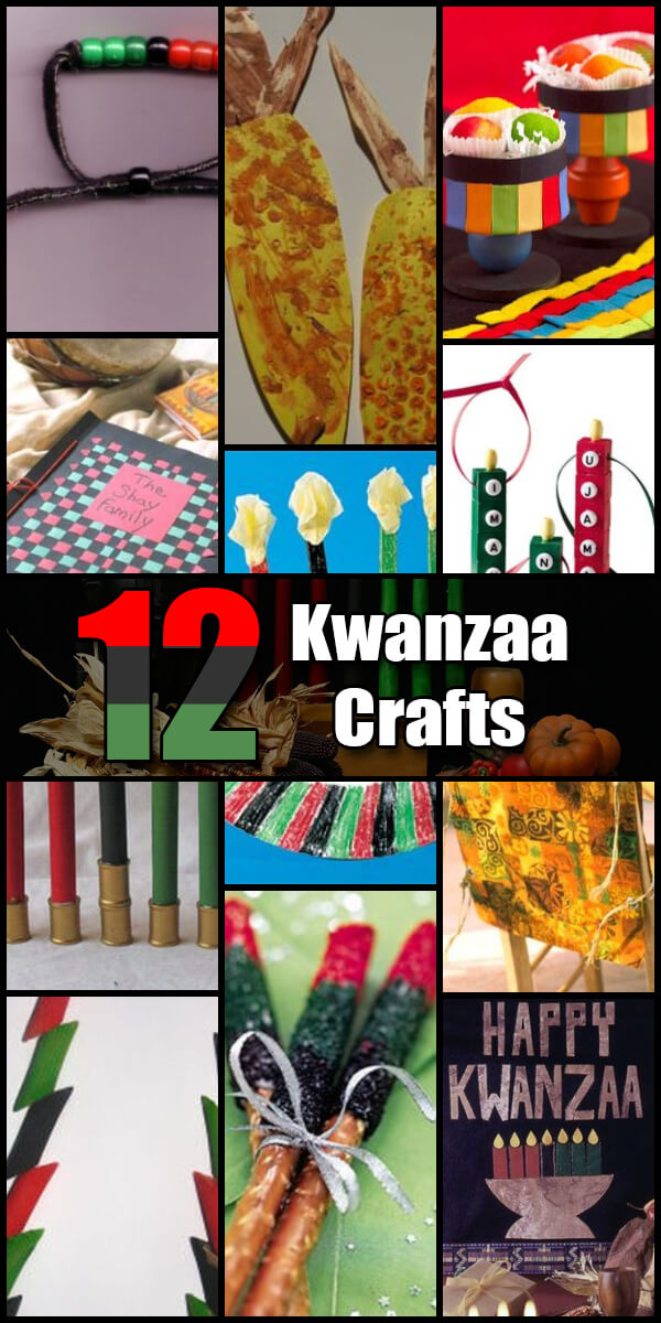 12 Fun Kwanzaa Crafts for Kids - Holiday Vault #Kwanzaa