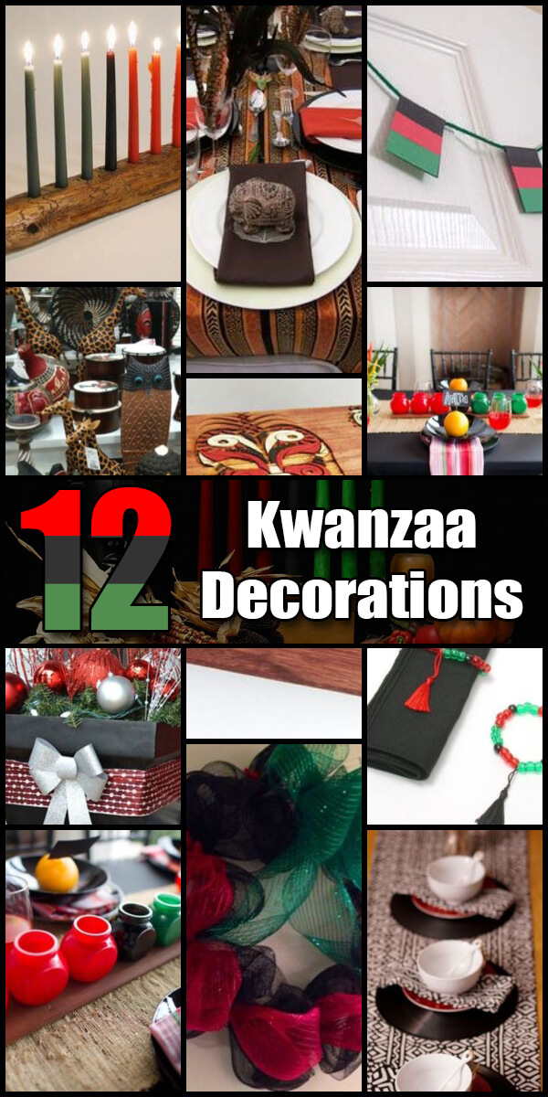 12 Homemade DIY Kwanzaa Decorations - Holiday Vault #Kwanzaa