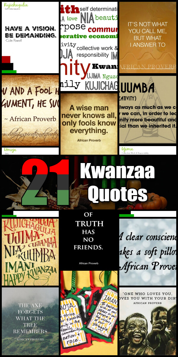 21 Insightful Kwanzaa Quotes - Holiday Vault #Kwanzaa