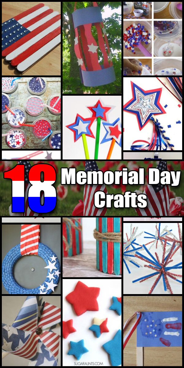 18 Fun Memorial Day Crafts for Kids - Holiday Vault #MemorialDay