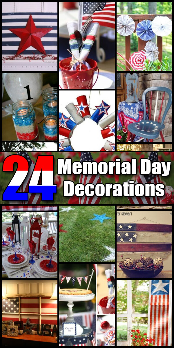 24 Star Spangled Memorial Day Decorations - Holiday Vault #MemorialDay